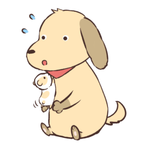ハムスターと犬